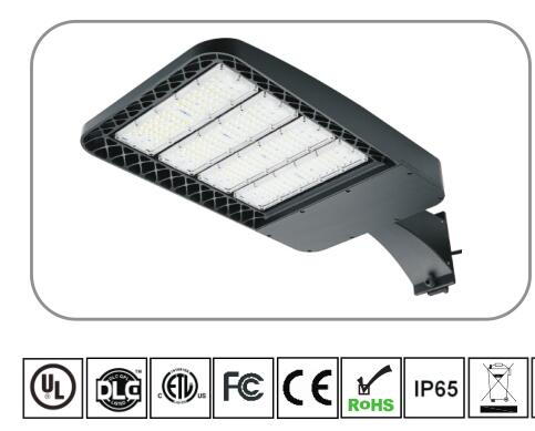 Cold White 6000k 120lm / Watt Led Car Park Light , Led Pole Lights CE Certified