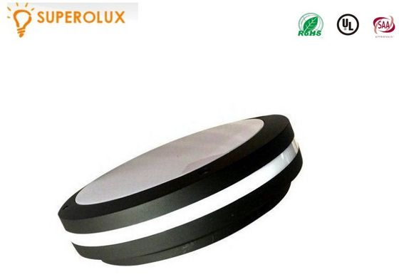 China Round Outdoor Ceiling Light Fixtures , 6000K Industrial Bulkhead Light 1600Lm supplier