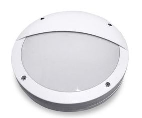 China White Housing Bulkhead Wall Light Half Cover Corrosion Proof Aluminum Powdering Coating supplier
