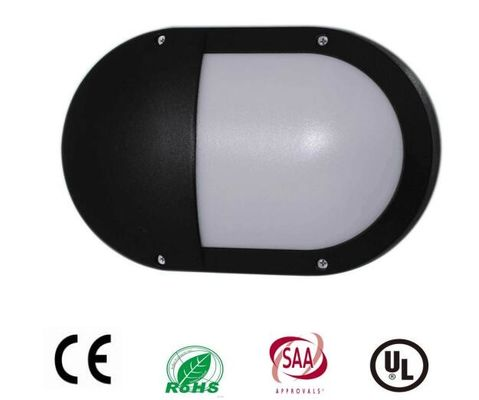 China Outside Oval External Bulkhead Lights  Chip Driver 20W Black Housing Half Cover IP65 supplier