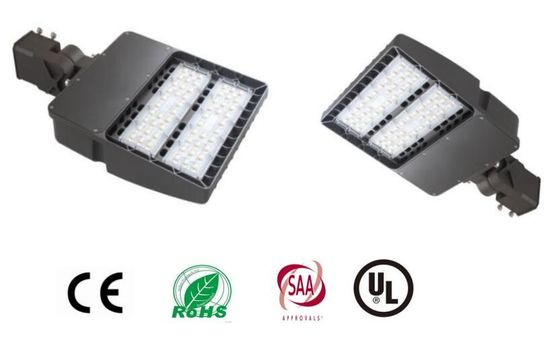 China 100W 13000 Lumen Shoe Box Led Light / IP65 90-277VAC LED Area Light With Meanwell distributor